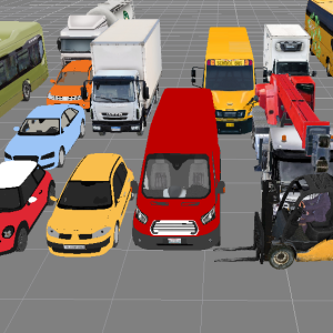 3D models of cars, trucks and buses