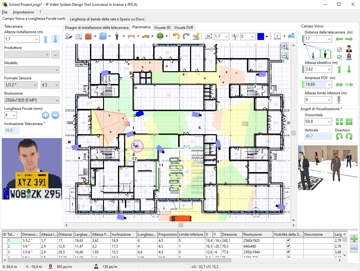 Ip video system design tool italiano pagina for Cctv layout software