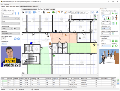Ip video system design tool beta version 7 0 beta for Cctv layout software