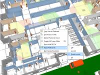 Отображение зон идентификации, распознавания, детекции на 3D виде.
