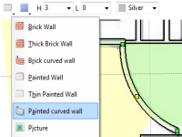 Curved walls are supported