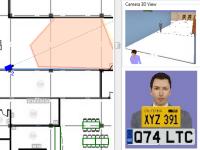 Отображение под 3D видом лица человека с плотностью пикселей соответствующей заданному расстоянию от камеры, углу обзора, и разрешающей способности камеры.