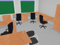 Furniture 3D models for CCTV modelling