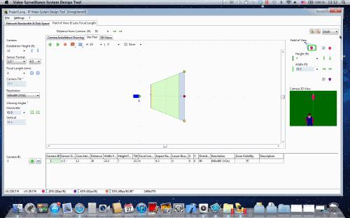 CCTV Lens calculation by JVSG software version 6.3 on Mac