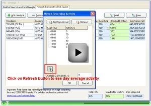 calculating average motion activity for storage space calculation video tutorial