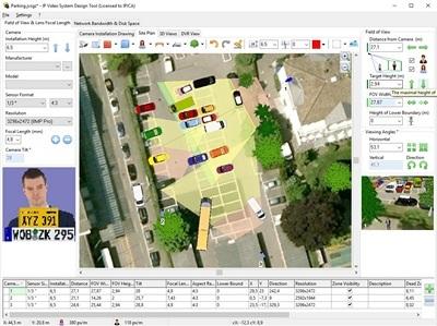 Camera Zone Coverage Calculation