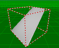 Tilted surface on 3D view